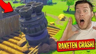 ROCKET IS CRASHED, what happened? in Fortnite!