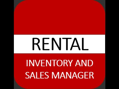 Rental Inventory And Sales Manager - Excel Template - V1 - Tour