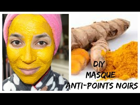 DIY : Masque Curcuma anti points noirs