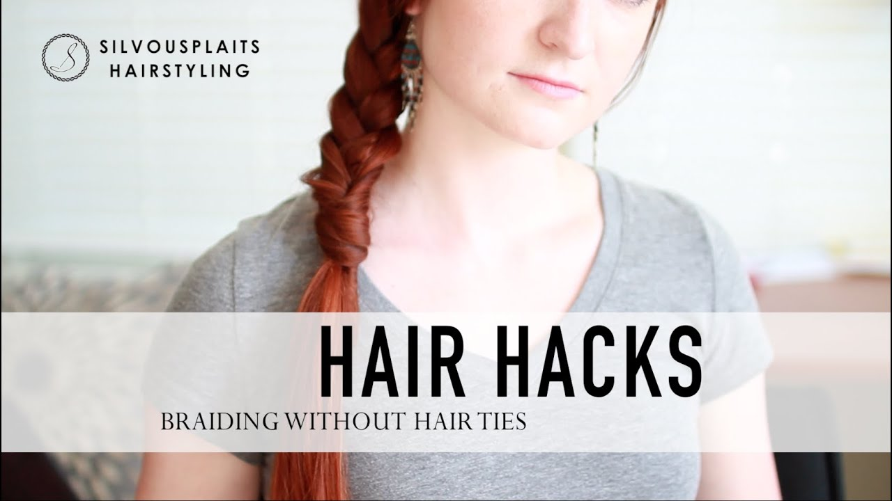 Hair Hack How To Secure A Braid Without A Hair Tie Youtube