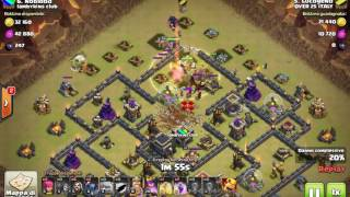 Clash Of Clans | TH9.5 vs TH9 ANTI 3 GOWIPE Eroi 16/20