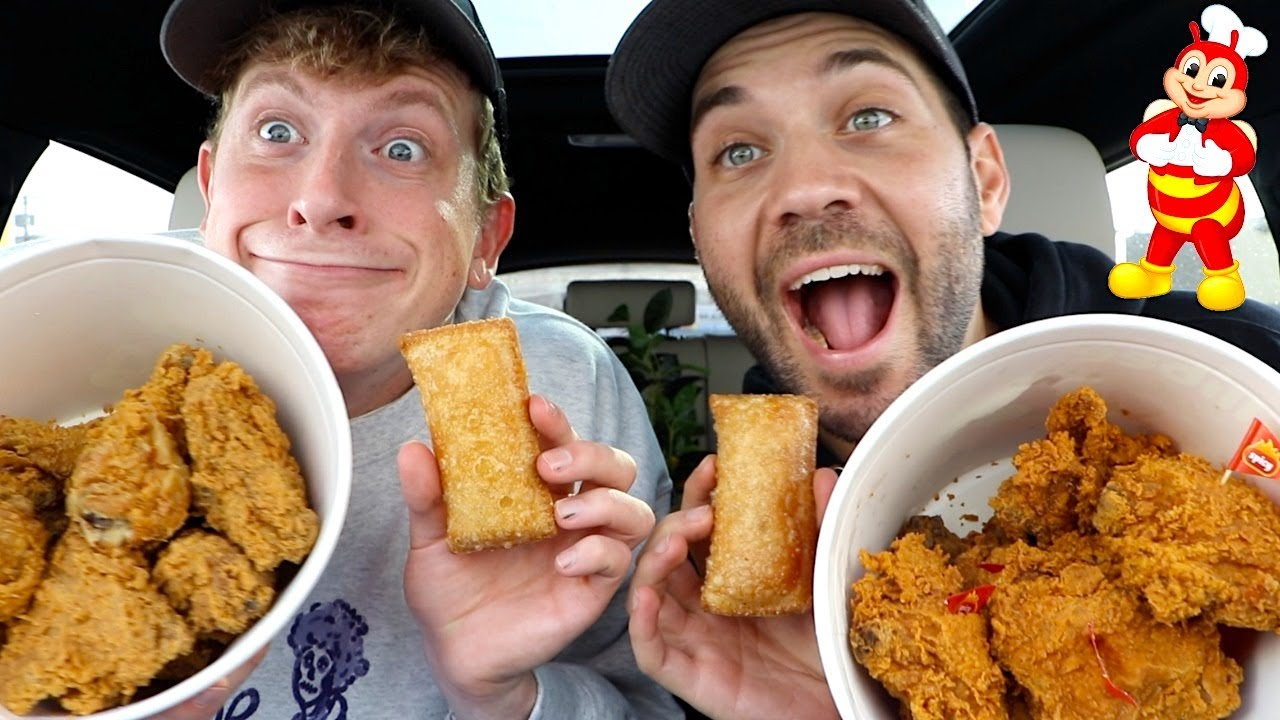 OUR FIRST TIME TRYING JOLLIBEE'S FRIED CHICKEN with MATT KING!!