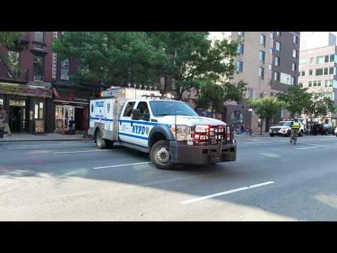 NYPD ESS Adam 2 Radio Emergency Patrol Truck Going Back To Harlem In Manhattan, NY