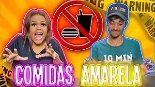 TENTE NÃO COMER COMIDAS AMARELAS !!!