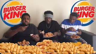 IMPOSSIBLE 200 BURGER KING CHICKEN NUGGETS CHALLENGE *HE FAINTED* 😱