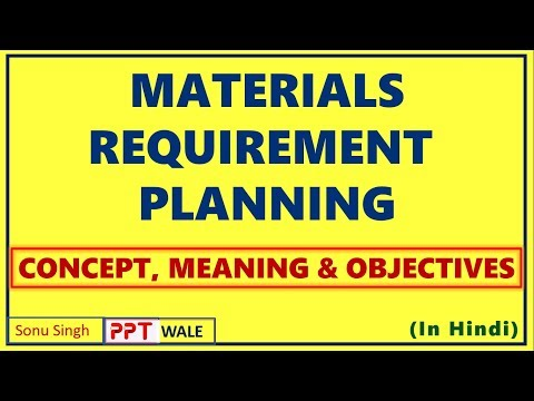 MATERIAL REQUIREMENT PLANNING IN HINDI | Meaning | Objectives | Operations Management | BBA/MBA ppt