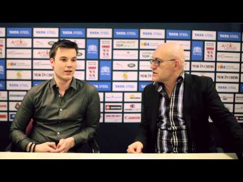 Tata Steel Chess 2015 - Press Conference - Robin van Kampen round 8
