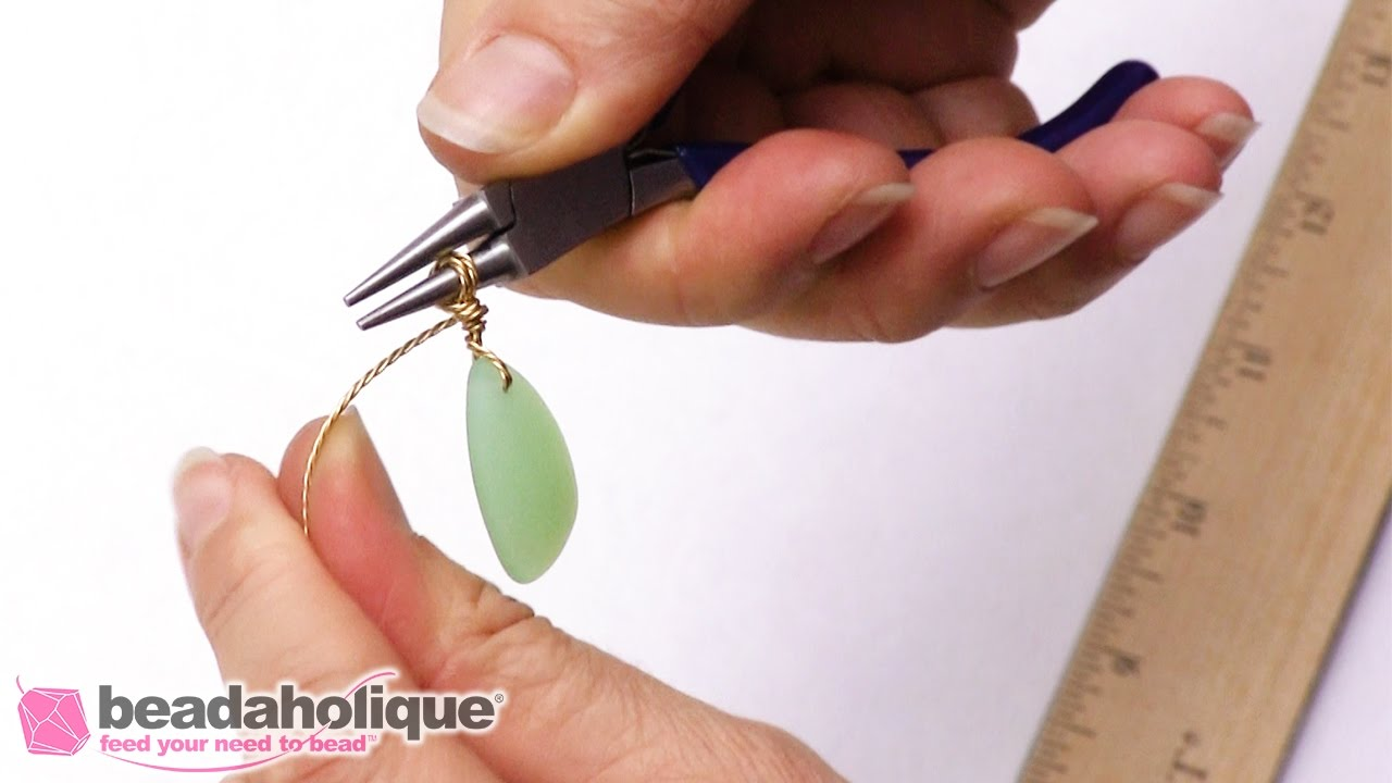 How to Create a Wire Wrapped Bail - YouTube