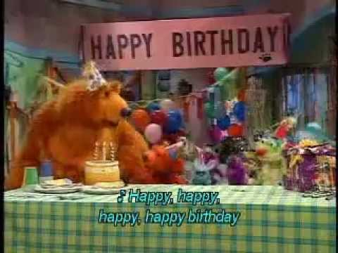 bear in the big blue house happy birthday song youtube. Black Bedroom Furniture Sets. Home Design Ideas