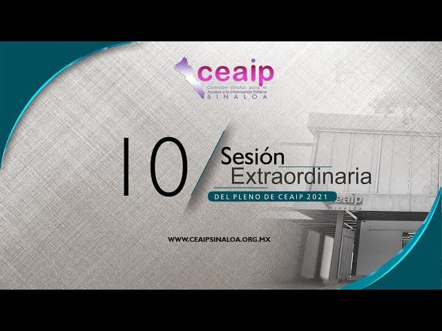 Sesión Extraordinaria de Pleno no. 10/2021