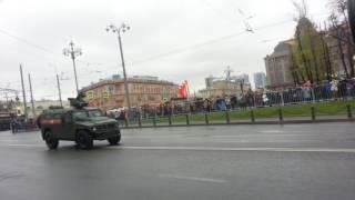 Военная техника где посмотреть на 9 мая метро Баррикадная Москва