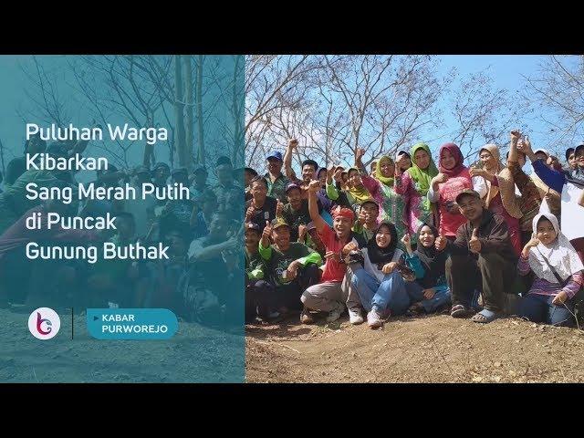 Puluhan Warga Kibarkan Sang Merah Putih di Puncak Gunung Buthak Tlogokotes