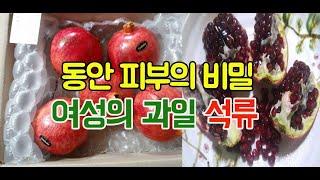 동안 피부의 비밀 여성의 과일 석류
