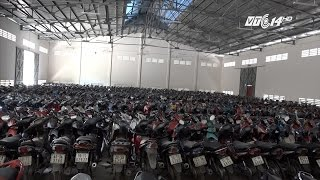 (VTC14)_TPHCM: 10.000 xe máy vô chủ, sắp thành đống sắt vụn