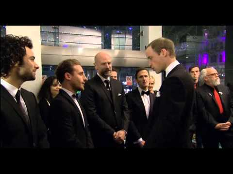 Prince William, Duke of Cambridge, meets the cast of The Hobbit