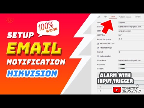 Hik Connect - How To Set Email Notifications With Input Alarm Trigger