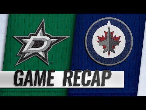 Hellebuyck, Jets top Stars, 5-1