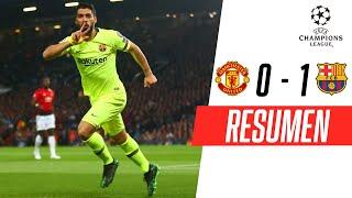 Manchester United - FC Barcelona [0-1] | GOLES | Cuartos de final (IDA) | UEFA Champions League