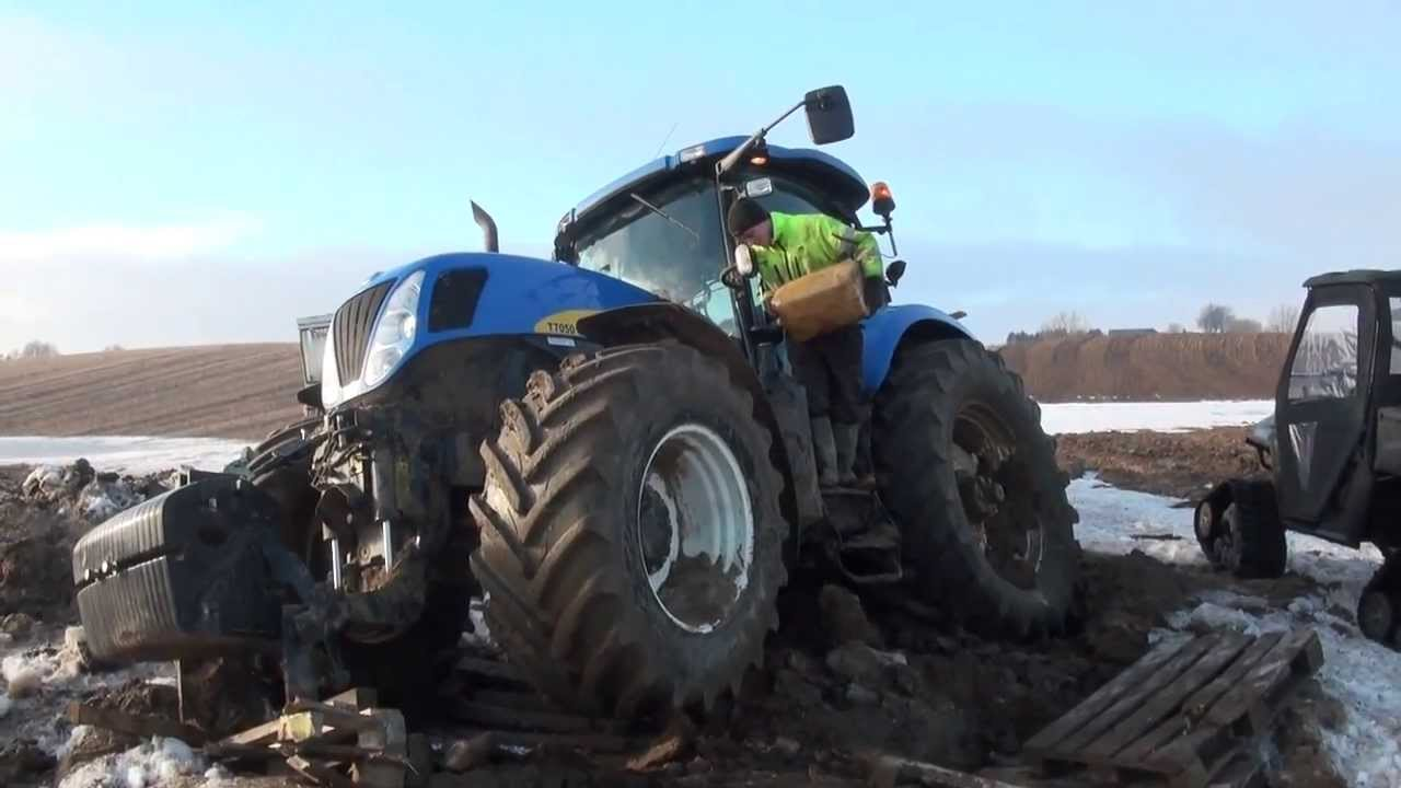 Nh T Tractor Stuck In The Mud New Holland Website