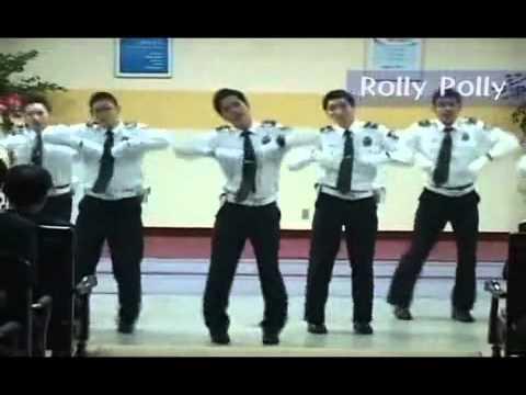 Korean Policemen Dancing to Roly-Poly (T-Ara)