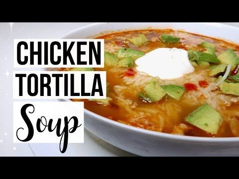 SAVORY CHICKEN TORTILLA SOUP