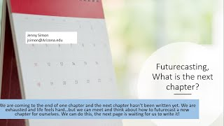 Futurecasting, What is the next chapter?