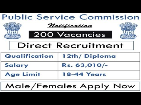 State Public Service Commission Recruitment | Latest Sarkari Naukri | Govt Jobs