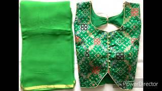 Designer Ready made blouse and saree at just RS 799