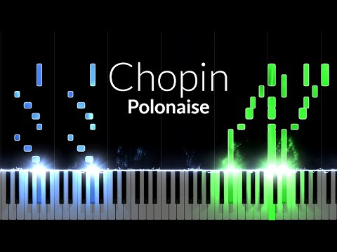 Polonaise (Opus 53) - Frédéric Chopin [Piano Tutorial] (Synthesia)