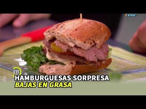 hamburguesas bajas en grasa
