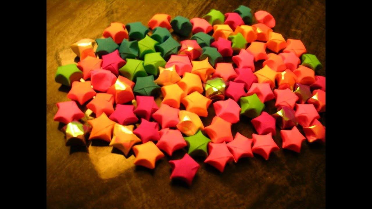Papercraft DIY Paper Craft :: How to make Paper Stars(lucky stars) - Innovative paper arts