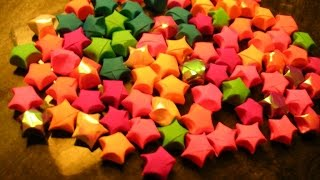 DIY Paper Craft :: How to make Paper Stars(lucky stars) - Innovative paper arts
