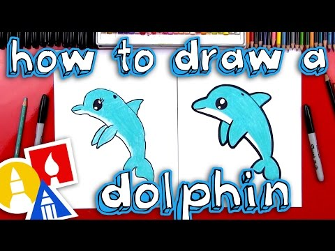 How To Draw A Cartoon Dolphin