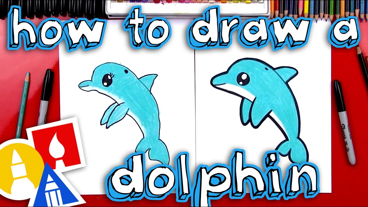 how to draw a cartoon dolphin youtube