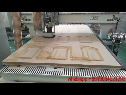 Perfect - Disk tool change cnc router for wooden door making