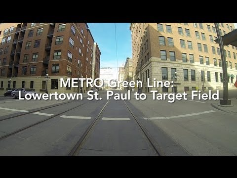 metro green line time lapse lowertown st paul to target. Black Bedroom Furniture Sets. Home Design Ideas