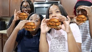 We Made The Popeyes Chicken Sandwich At Home
