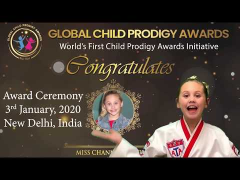 Global Child Prodigy Awards 2020 || Miss Channah Zeitung || Category - Martial Arts.