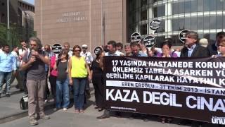 İş Cinayetinde Hayatını Kaybeden Eren Eroğlu için Basın Açıklaması