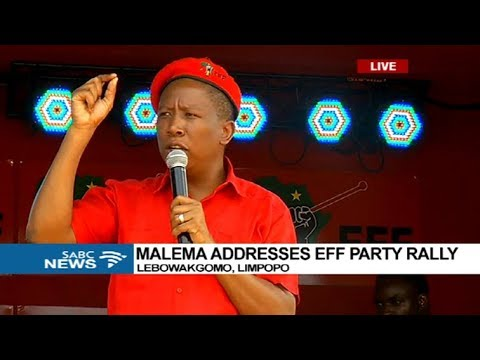 Malema addresses EFF Party Rally