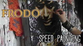 FRODO Lord Of The Rings SPEED PAINTING - Art By Stephen Quick