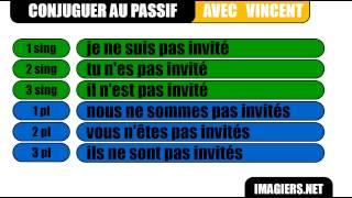 French Conjugation Passive Present Inviter Youtube