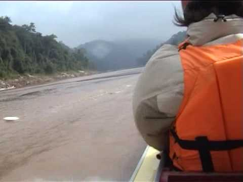 Laos - Fast Boat down the Mekong