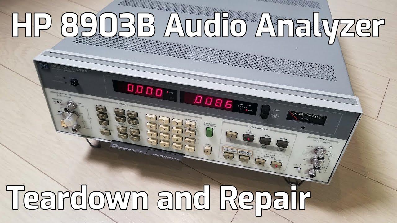 Hp 8903b Audio Analyzer Teardown Youtube