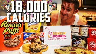 THE ALL STAR CHEAT MEAL CHALLENGE (18,000+ CALORIES)