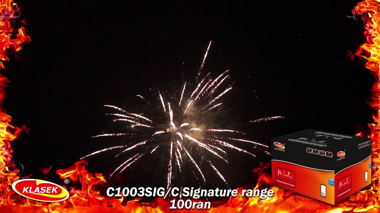 C1003SIG/C  Signature range 100 ran