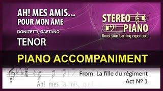 Ah! mes amis...Pour mon âme Karaoke / Donizetti / Tenor