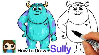 How to Draw Sulley Easy | Monsters Inc.