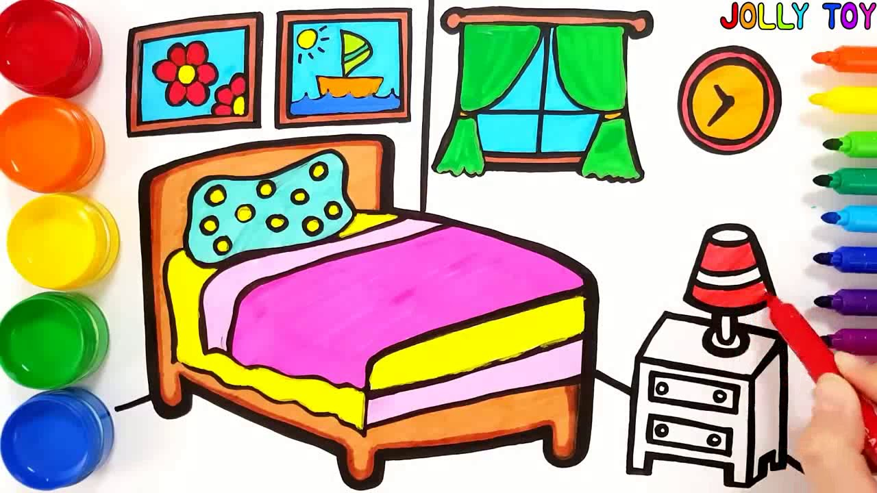 جديد للاطفال تلوين غرفة نوم للاطفال ورسم للاطفال Mega Videos