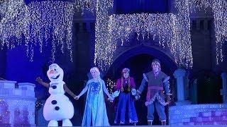 A Frozen Holiday Wish at Magic Kingdom | Lighting of Cinderella Castle 2019 Walt Disney World